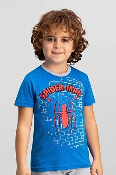 Spider-Man Lisanslı Erkek Çocuk T-Shirt Mavi